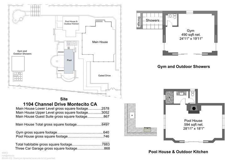 1104 Channel Drive Site Plans